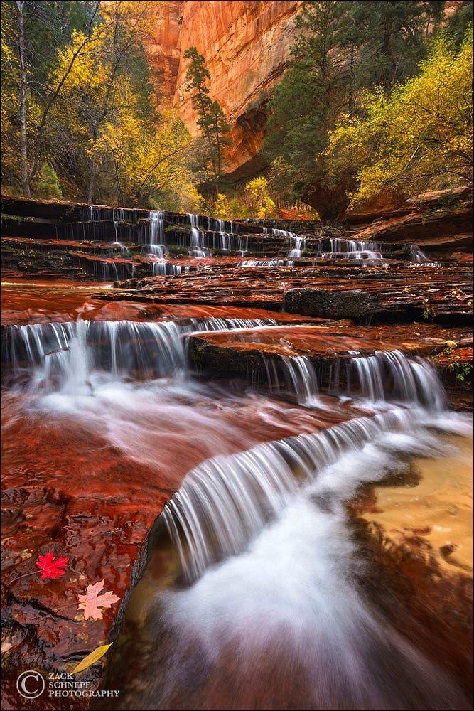 Archangel Falls (Zion NP, Utah) by Zack Schnepf on 500px