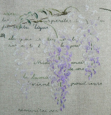 Wisteria. A design by Marie-Therese Saint Aubin