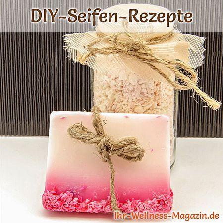 Handgemachte Seife mit getrockneten Blüten