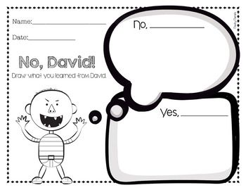 List of Synonyms and Antonyms of the Word: no david printables