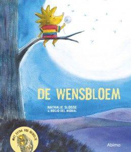 """Prentenboek """"De wensbloem"""" van N. Slosse & R. Del Moral (uitg. Abimo) over een onverwacht overlijden"""