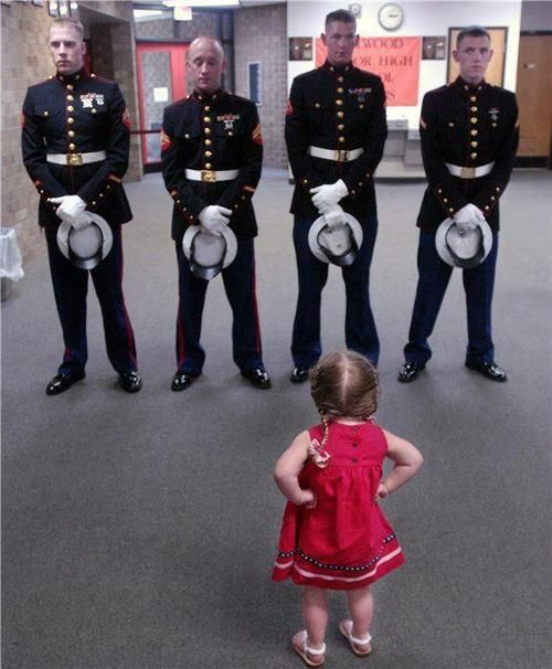 She's so cute...commanding her own Army....