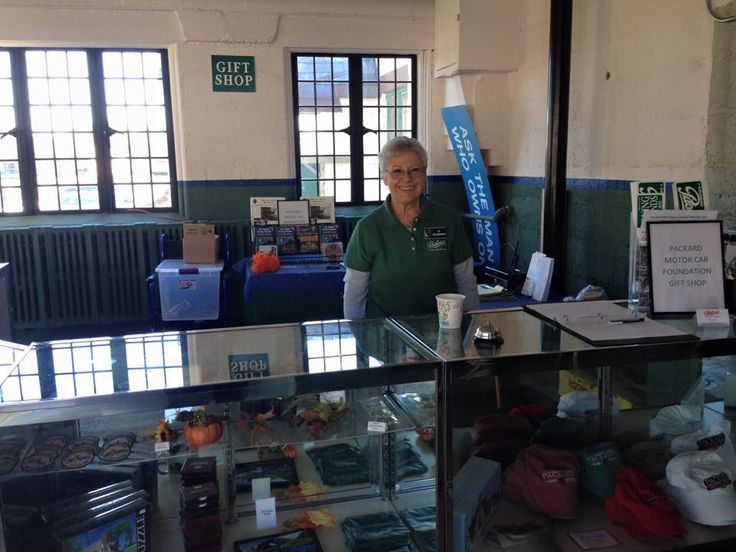 One of our Volunteers running the Packard Store at the 2015 Fall Open House.