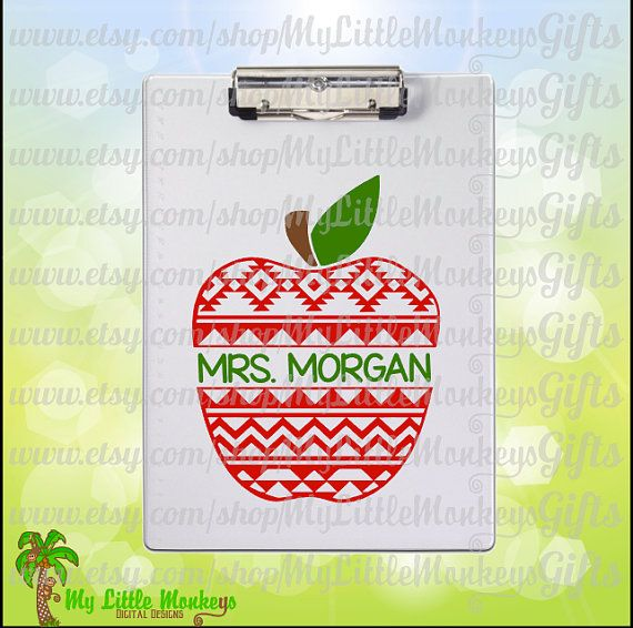 Aztec Pattern Apple Aztec Pattern Apple by MyLittleMonkeysGifts
