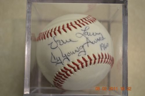 Vern Law Signed Baseball