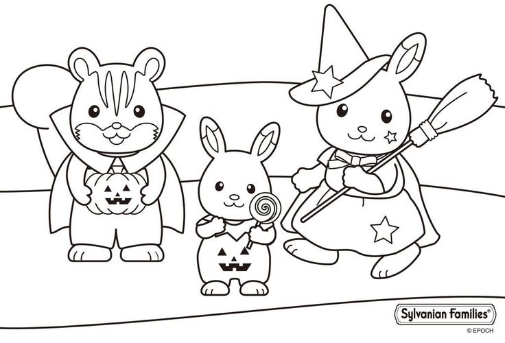 Sylvanian Families Colouring Pages