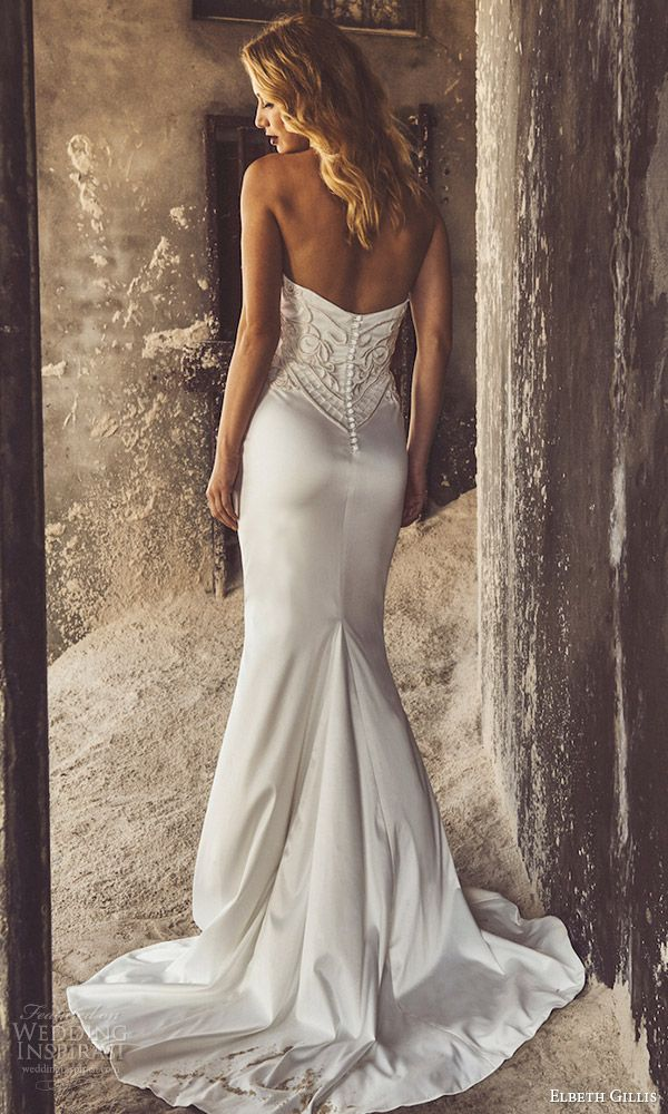 elbeth gillis bridal 2017 3 strapless sweetheart embellished bodice trumpet wedding dress (karen) bv train