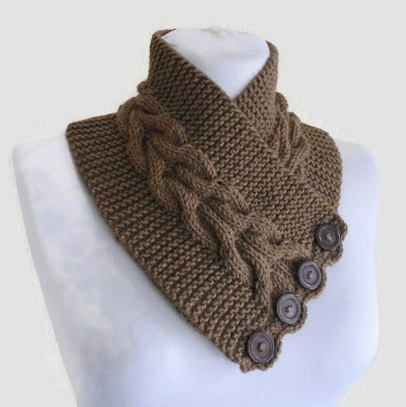 light brown neckwarmer, Men scarf, women scarf,cozy, unisex, winter fashion, hand-knitted, unique gift  A perfect gift for that special person in
