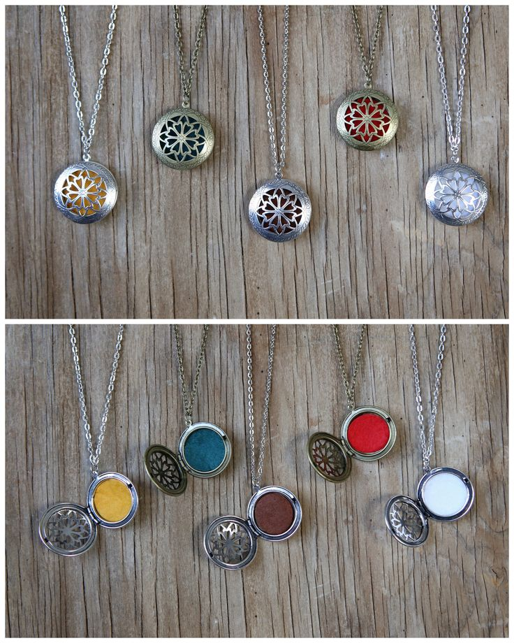 Aromatherapy Diffuser Locket Necklace for Essential Oils. Choose Antique Bronze or Antique Silver - $14.99 : Pure Essential Oils | Aromatherapy Nebulizers | Oil Diffusers