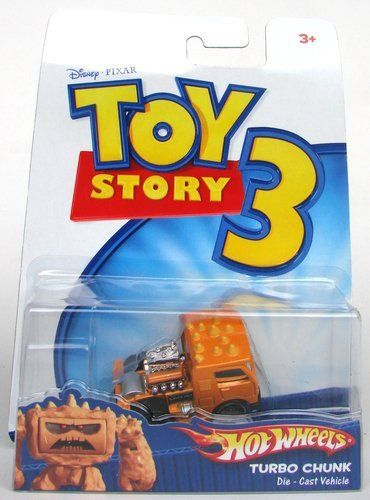 Disney / Pixar Toy Story 3 Hot Wheels Die Cast Vehicle Turbo Chunk by Mattel. $5.99. THANKS FOR LOOKING.. hamm on wheels. TOY OR COLLECTIBLE. Disney / Pixar Toy Story 3  Hot Wheels Die Cast Vehicle  Turbo Chunk