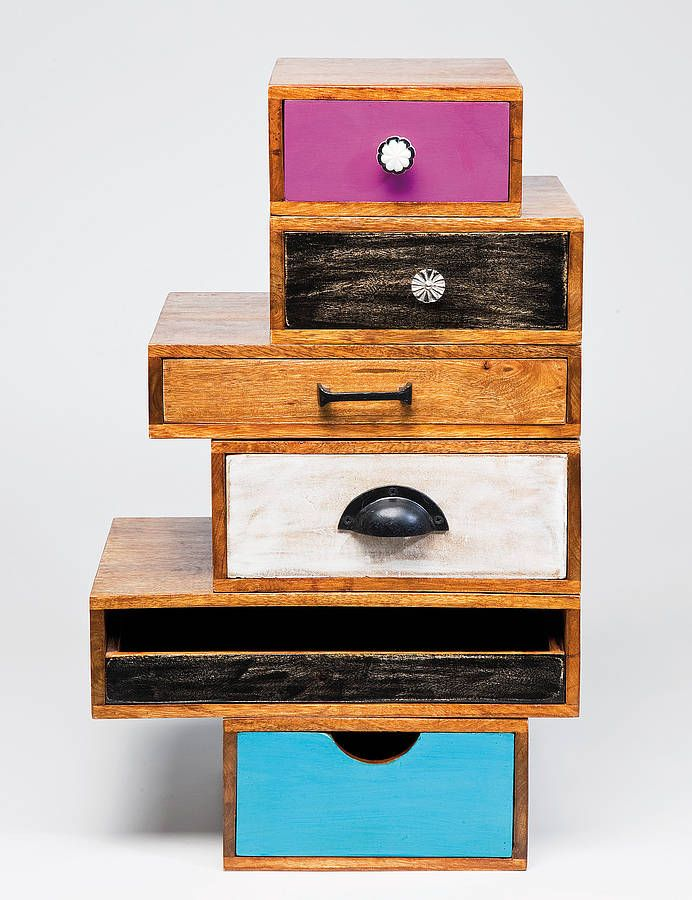upcycled drawer tower by i love retro | notonthehighstreet.com