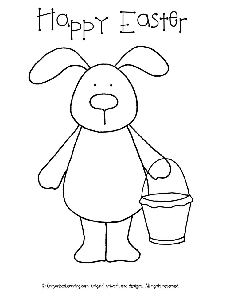 *FREE* Easter Bunny Coloring Sheet Crayonbox Learning