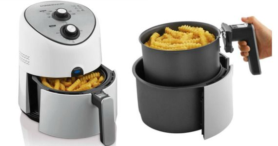 This Farberware Air Fryer is perfect for onion rings, fries, steak, chicken and more. Because air frying uses no oil, there is less odor, less splatter and less mess as compared to traditional deep fryers.