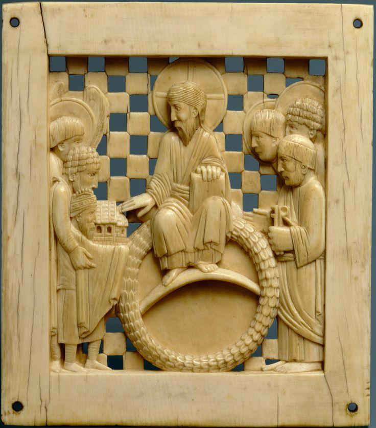 оттон приподносит христу магдебургский собор
