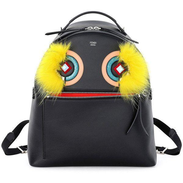 Fendi Large Monster Fox-Fur Backpack (4 106 AUD) ❤ liked on Polyvore featuring bags, backpacks, black, backpacks bags, fendi backpack, knapsack bag, fox bags and fendi