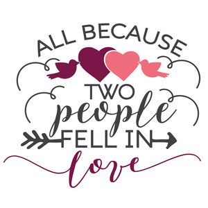 Download All because two people fell in love | Silhouette design ...