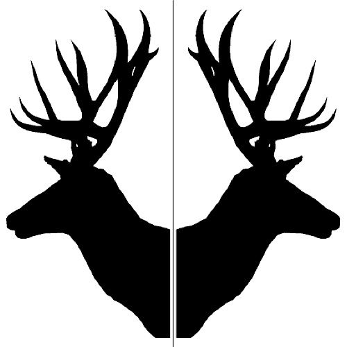 c-deer-0005 - Two deerhead silhouettes - Etchworld.com - Your ...