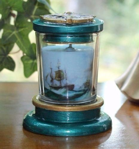 Peppermint & Vanilla Scented Nautical Candle Holder and Snuffer