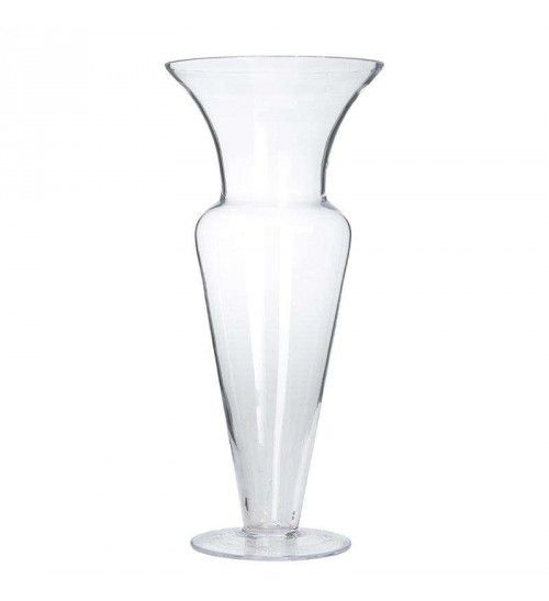 GLASS VASE IN CLEAR COLOR 17X17X40