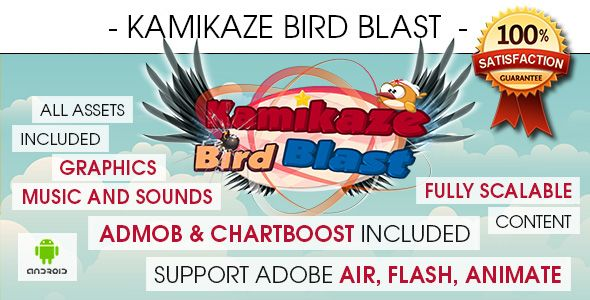 Kamikaze Bird Blast - Android Download: https://codecanyon.net/item/kamikaze-bird-blast-android/17371348?ref=Ponda