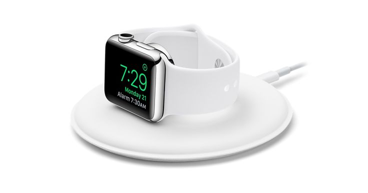 Magnetic Charging Dock lets you charge your Apple Watch in a flat position, or on its side so you can also use it as your alarm clock. Get free shipping.