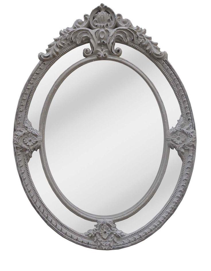 rustic grey wash mirror