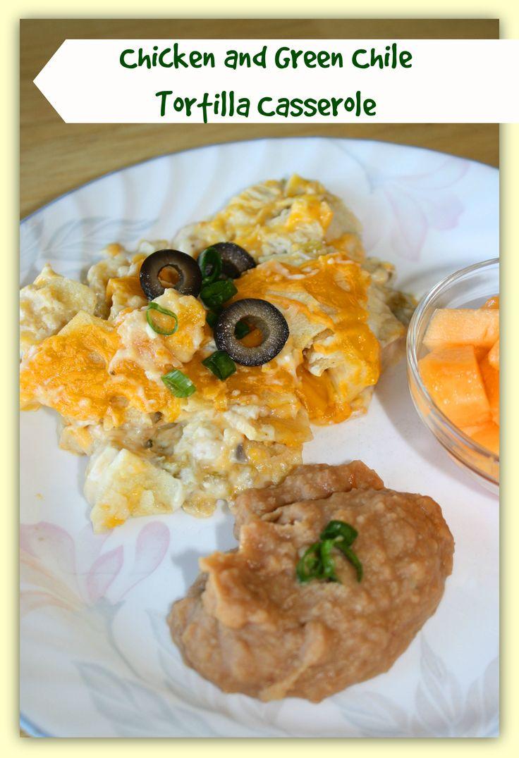 Chicken and Green Chile Tortilla Casserole | Recipe