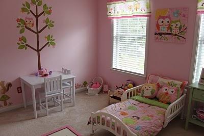 Love this fabulous owl bedroom!!