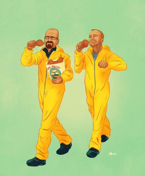 As duplas mais famosas do cinema e de séries da TV, ilustradas ;-) - Blue Bus