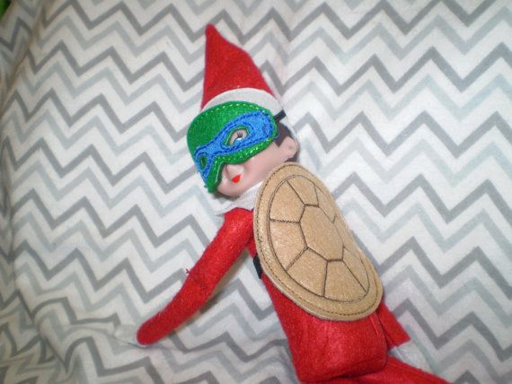 Elf on the Shelf Ninja Turtle outfit by Fancythattwo on Etsy