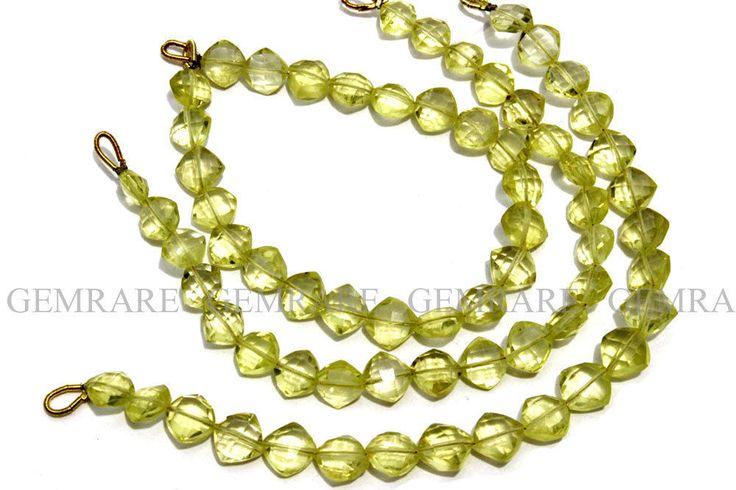 Gemstone, Lemon Quartz Faceted Cushion (AA), 23 pcs, LEM-033/2
