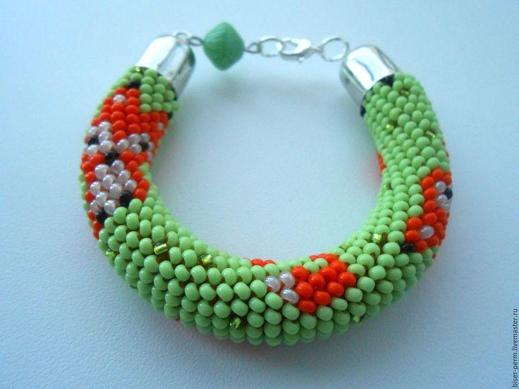 Купить Детский браслет с лисичками - комбинированный, браслет, детское украшение, детский браслет, украшение моднице