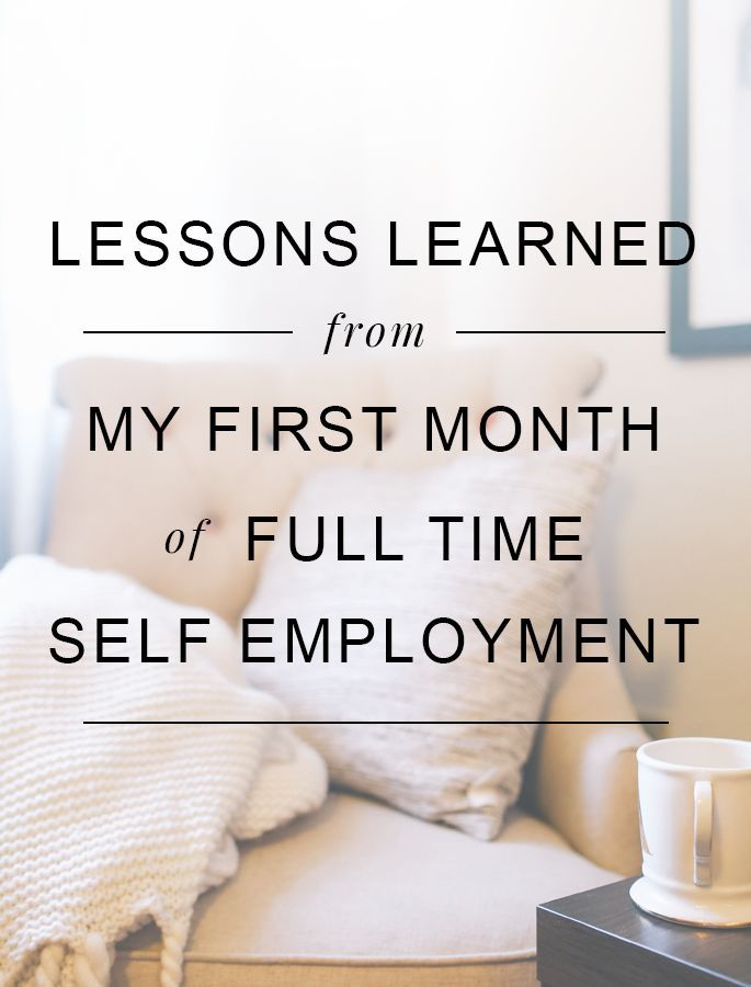 What I learned in my first month as a full-time self-employed solopreneur