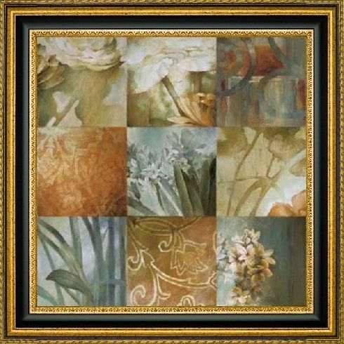 "Framed Canvas Print Wall Art Square Choices by Linda Thompson - 30"" x 30"" Ready to Hang"