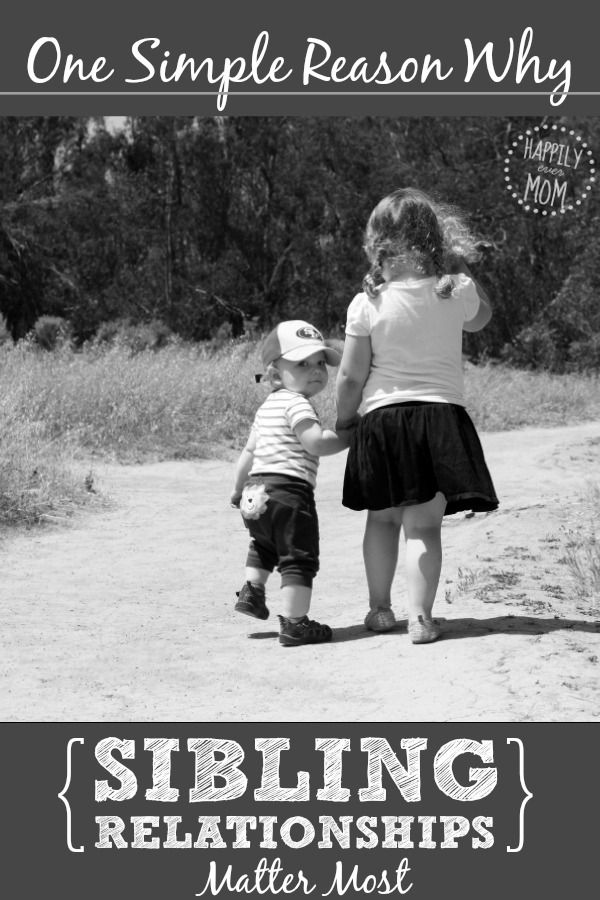 Why sibling relationships matter. A good read for parents who have 2+ kids.