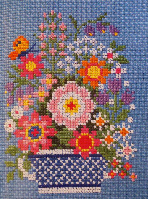 My oldest sister Marilyn taught me to cross stitch when I was 9. One of my fav hobbies. RIP Dear sister. Thank you for all you taught me. So many things.