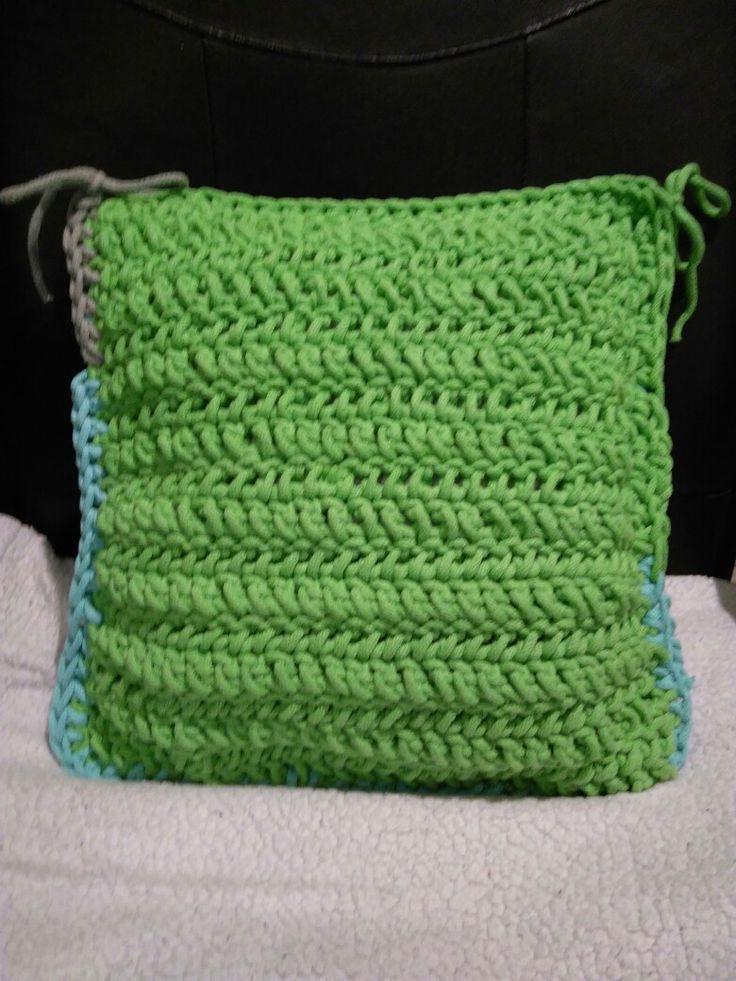 Poduszka jasiek 40x40 ze sznurka bawełnianego 👍 / pillow  #crochet #knitting #szydełko #sznurek #szydelkowanie