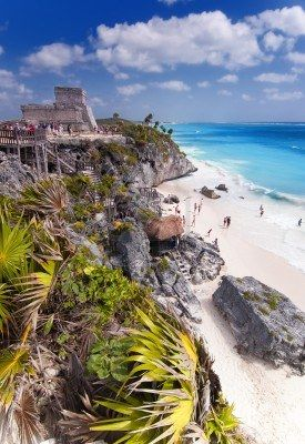 The Mayan ruins of Tulum in Mexico.  Stay at The Beach Tulum hotel