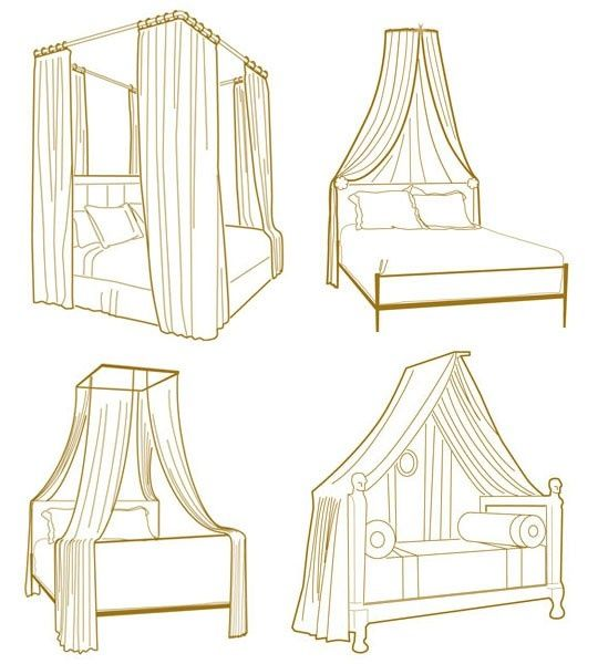 Bed canopy layout ideas. THAT IS GREAT!!!