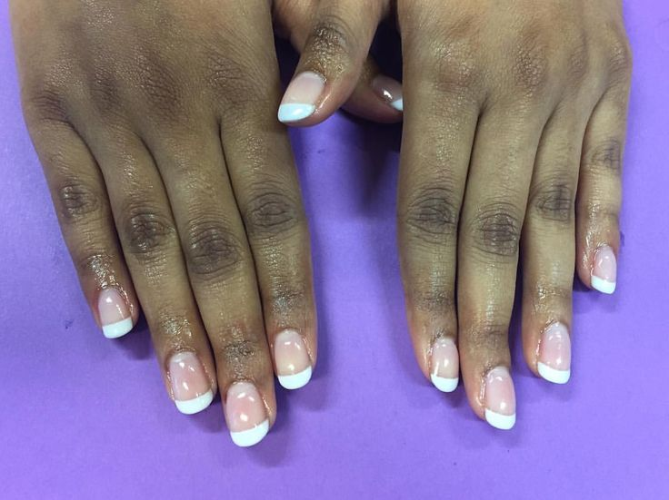 """No8 Nails (@no8nails) on Instagram: """"Gelish Dip French Manicure using Simple Sheer & Arctic Freeze #gelishdip"""""""