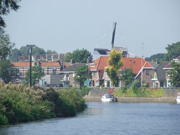 Op de boot onderweg naar Dalfsen in Overijssel.