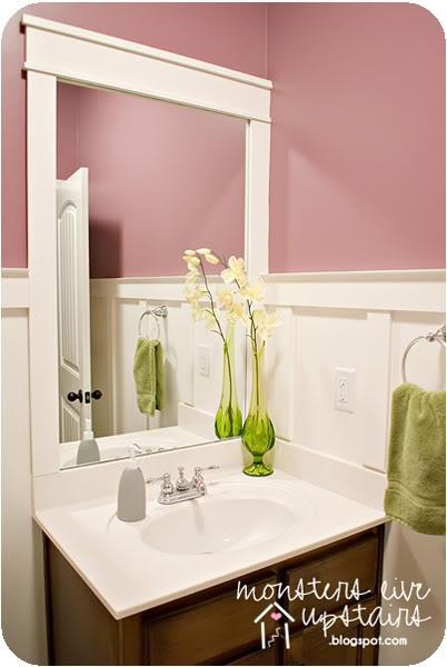 Board And Batten Bathroom Mirror Frame Diy Bathroom
