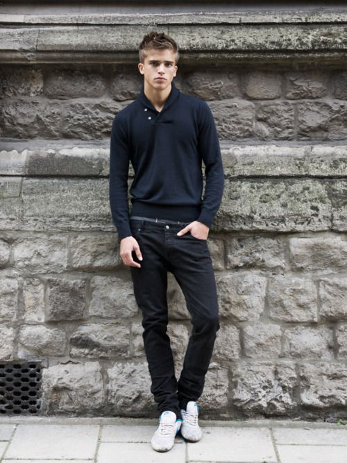 Buttons.Sweaters, Blondes Boys, Pants, Rivers Viiperi, Men Style, Men Fashion, Casual Outfits, Hair, Black