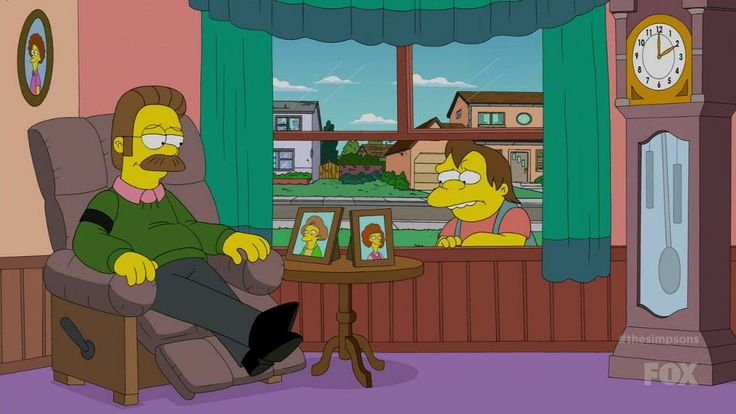 Ned and Nelson remembers Edna Krabappel