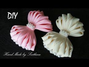 Бантики из ленты Мастер класс DIY Bows made of ribbon - YouTube
