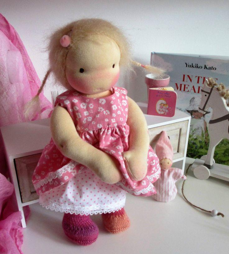 Waldorf inspired doll, Dana, 12 inch door Poppenina op Etsy