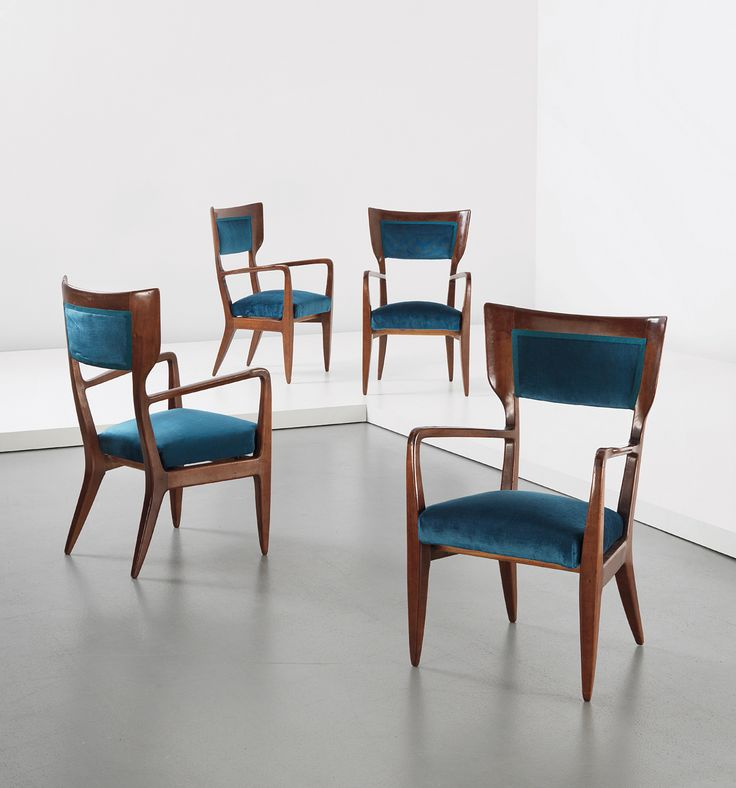 PHILLIPS : UK050213, GIO PONTI, Set of four occasional armchairs