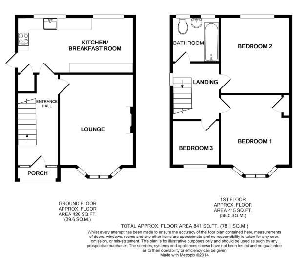 Floor Plan 1930 39 S Uk Semi Detached House Pinterest