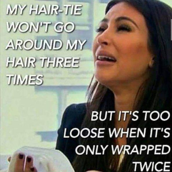 It's so true!!! Please! Just make them a little bit longer!!! :) #hairmeme #hairtie #commonproblems #dec #dollareyelashclub
