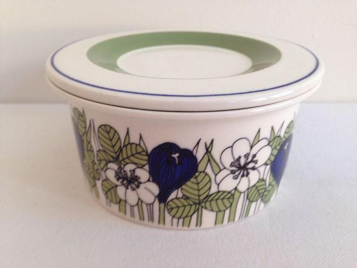 RARE Retro Arabia Krokus Lidded Sugar Bowl 1970's Finland Esteri Tomula in Pottery, Glass, Pottery, Porcelain, Arabia   eBay